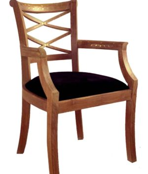 cross back chair ( Cross back chair with arm )